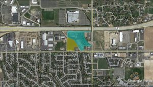 Overland & Locust Grove land available aerial